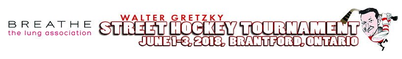 walter gretzky street hockey tournament banner